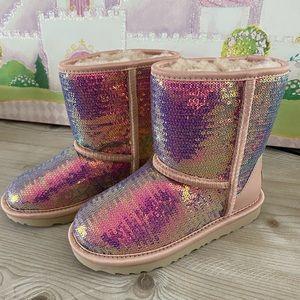 Girls UGG sequin boots